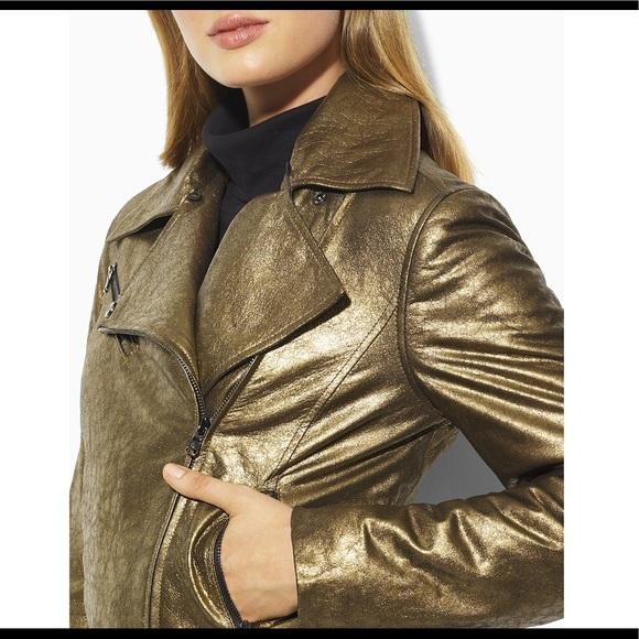Finity Studio Jackets & Blazers - Finity Studio Gold Leather Jacket